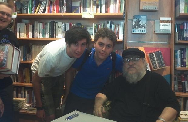 Eugenio e Federico con George R.R. Martin