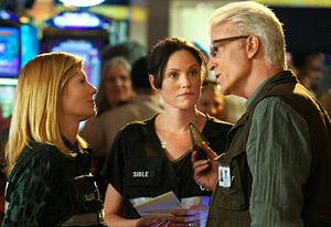 Ted Danson sul set di CSI