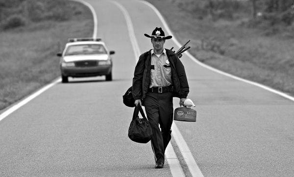 The Walking Dead bianco e nero
