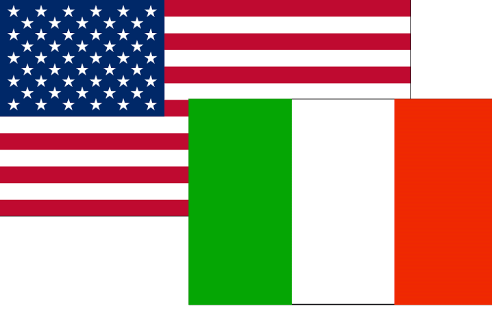Italia-USA-Bandiera
