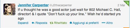 jennifer carpenter tweet