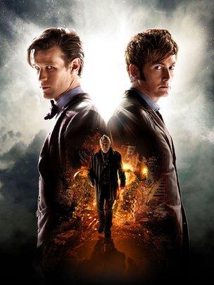 Poster 50° anniversario Doctor Who