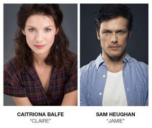 Caitriona Balfe e Sam Heughan