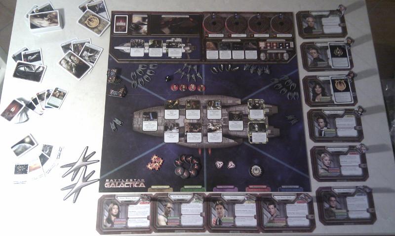 Battlestar Galactica plancia di gioco