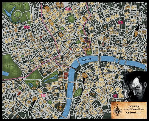 Sherlock Holmes - Mappa Londra small