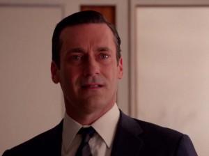Don Draper piange