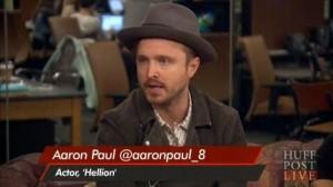Aaron Paul durante l'intervista