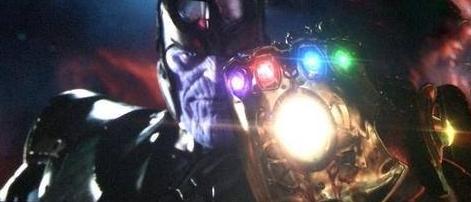 La comparsa di Thanos e del Guanto dell'Infinito alla fine del teaser di Avengers: Infinity War