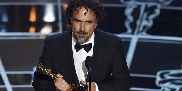 L'uomo della serata, Alejandro G. Iñárritu, salito sul palco per ben tre volte.