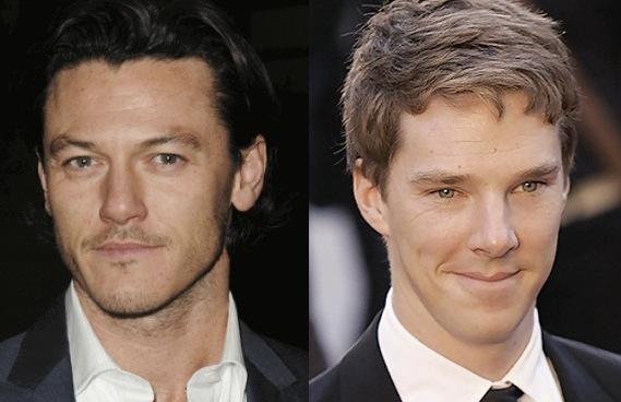 Luke Evans and Benedict Cumberbatch