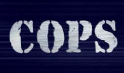 """Logo del programma tv """"COPS"""", parodiato nella serie"""