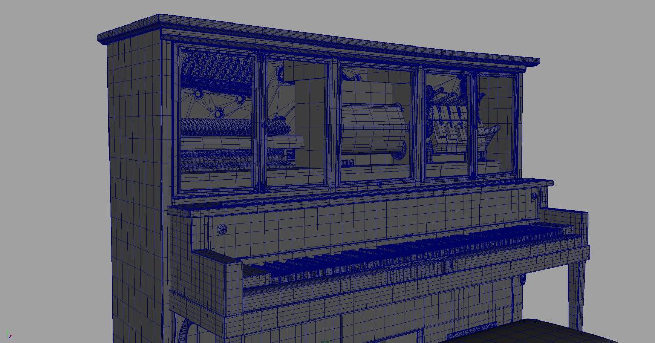 Modello del pianoforte meccanico